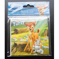 Uitnodigingskaartjes Bambi